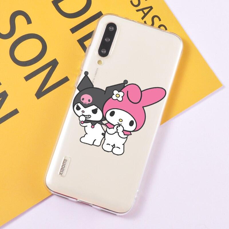 Funda de teléfono Kuromi para Redmi Note 8 pro K20, funda de silicona transparente con dibujos para Xiaomi Mi 10 pro 9T se, accesorios