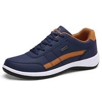 hot spring blue men casual shoes fashion breathable sneakers men non slip leather shoes men big size 47 48 zapatillas de deporte