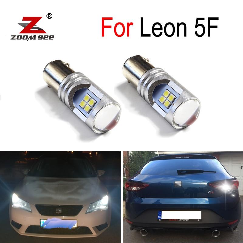 Luz LED de circulación diurna 100%, blanca, Canbus, libre de errores, DRL para Seat Leon 3 MK3 5F (2013 +)