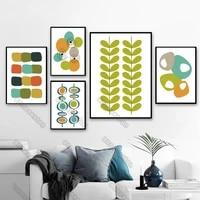 Dessin anime photos toile peinture affiche murale motifs irreguliers cercle ovale en forme de conge diverses couleurs pour la maison chambres mur deco