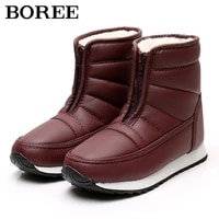 women snow boots winter shoes plush warm ankle boots for women cotton shoe botas mujer antiskid waterproof winter female booties