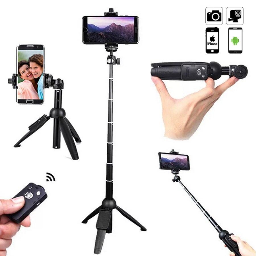 Yunteng extensible Selfie palillo trípode Monopod con Bluetooth Disparador remoto Universal para iPhone X XS 7plus teléfonos inteligentes Gopro
