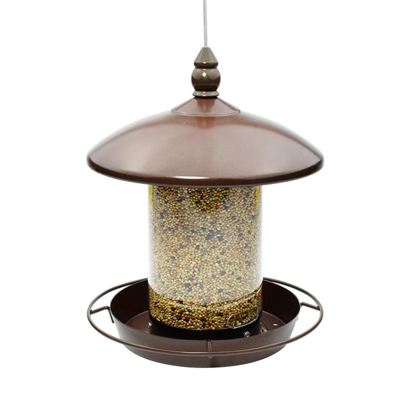 Alimentador de aves Panorama alimentador de ardillas comederos para exterior 16*16*20cm