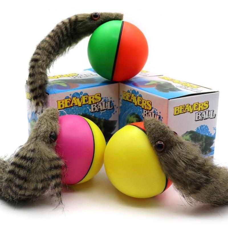 Juguete para mascotas, perro, gato, comadreja eléctrica de Castor, bola rodante, juguetes para masticar, dientes, afilar, garras, morder, suministros interactivos