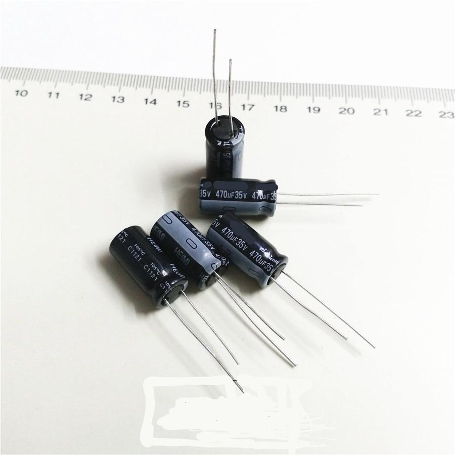 50 UDS-1 lote 470UF 35V original importado condensador electrolítico de aluminio 470MF 10*16