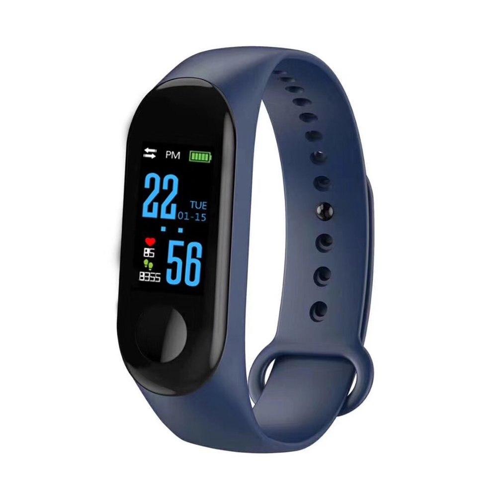 Pulsera inteligente M3 con pantalla a Color IP68, Monitor de ritmo cardíaco a prueba de agua, Monitor de presión arterial, reloj reemplazable para Android IOS 2019