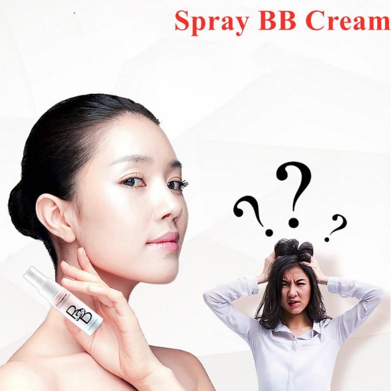 Lasting Moisturizing Spray BB Cream Natural Brighten Base Makeup Cream Concealer Face Whitening Foundation Liquid Cosmetic TSLM1 недорого