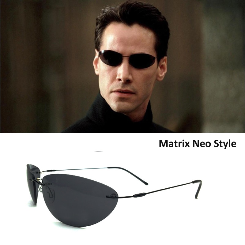 Мужские солнцезащитные очки без оправы, ультралегкие поляризационные солнцезащитные очки из титановой матрицы, брендовые дизайнерские оч...