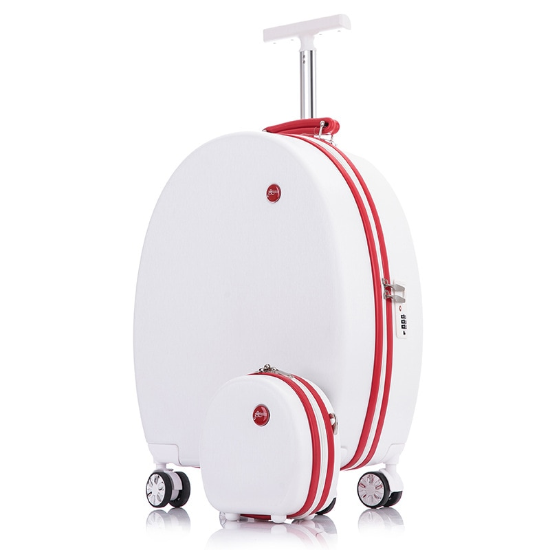 Rolling Luggage 10/20 Inch Round Trolley Case with Universal Wheel Travel Suitcase Carry on Luggage Suitcase for Women