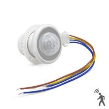 Ev güvenlik LED PIR detektörü kızılötesi hareket sensör dedektörü anahtarı zaman gecikmesi ayarlanabilir PIR Alarm sistemi