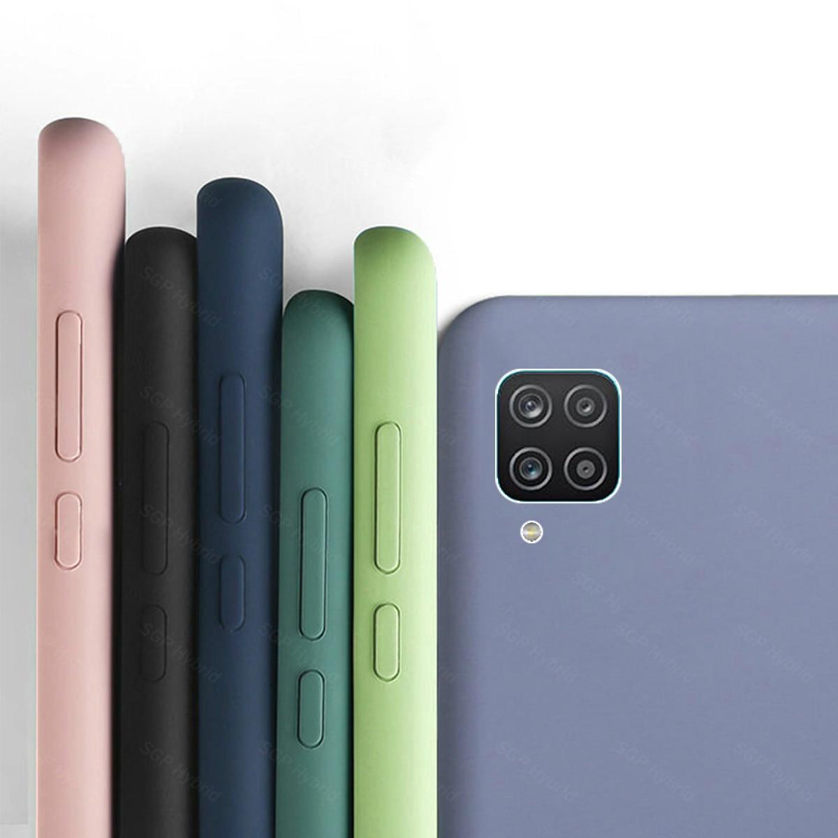 Чехол для Samsung A12, жидкий резиновый силиконовый армированный чехол для Samsung Galaxy A 12 A12 SamsungA12, чехол для телефона, оболочка Бамперы      АлиЭкспресс