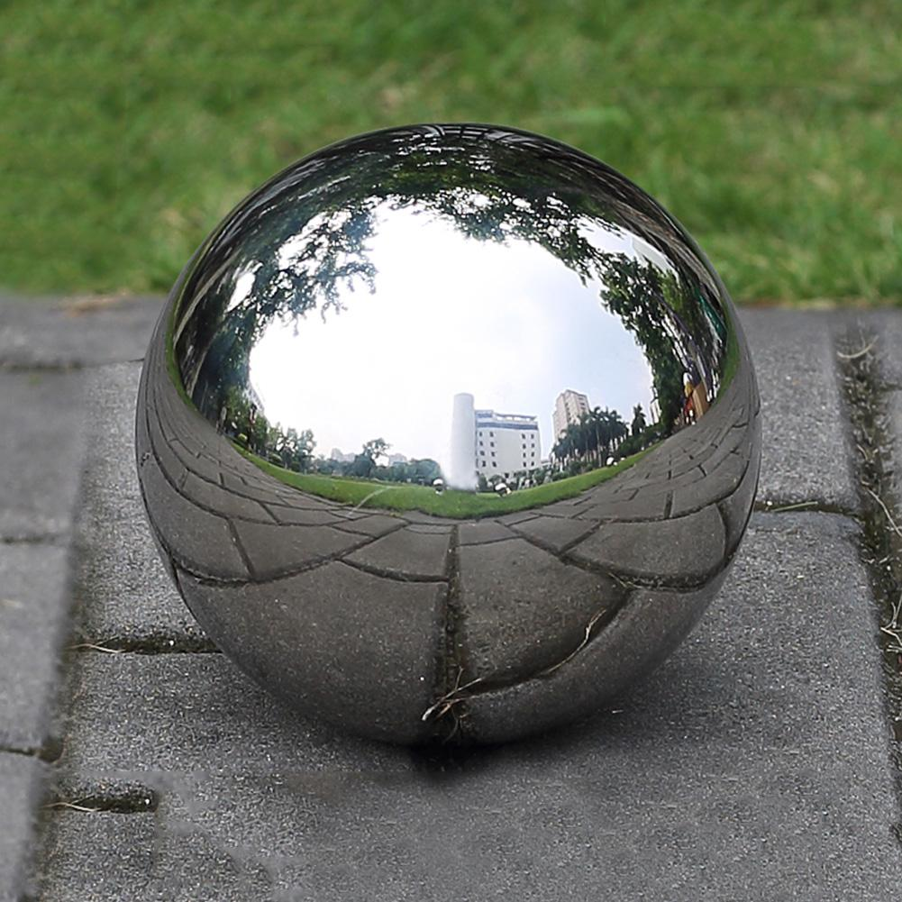 12cm 304 Stainless Steel Ball High Gloss Sphere Mirror Hollow Ball for Home Garden Decoration Supplies Ornament