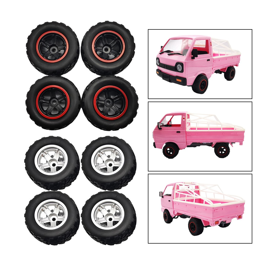 4x RC Car Trunk Tires for WPL D12 RC Engine Replace Parts RC Accessory