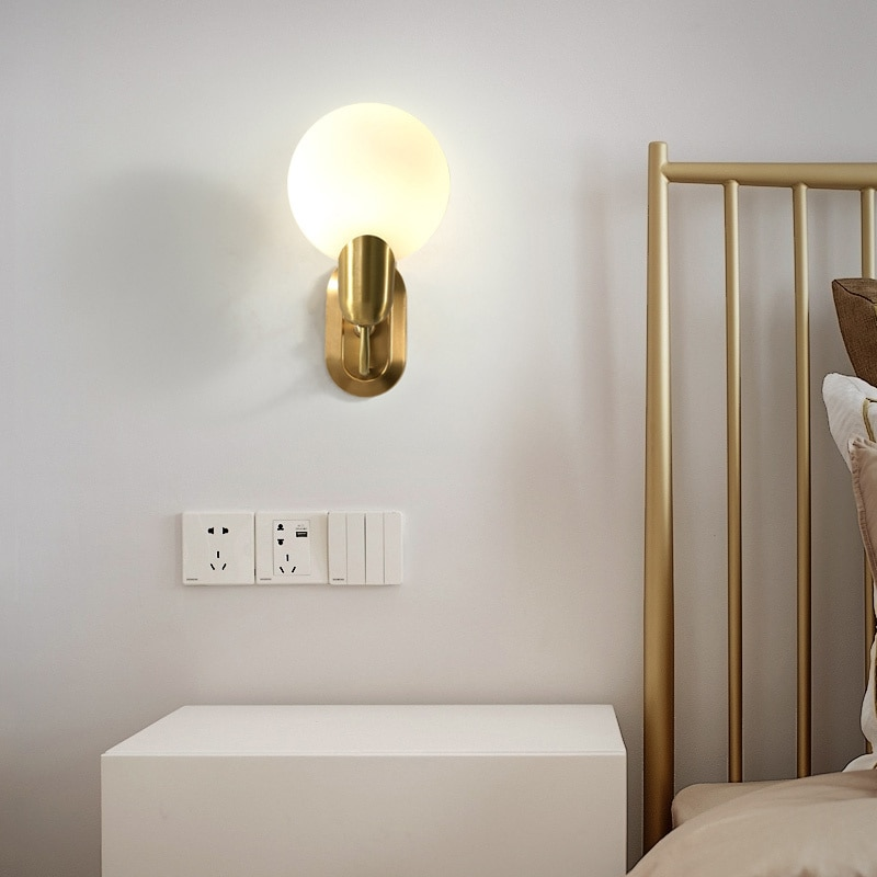 빈티지 데코 메종 led 거실 침실 통로 espelho lampara pared
