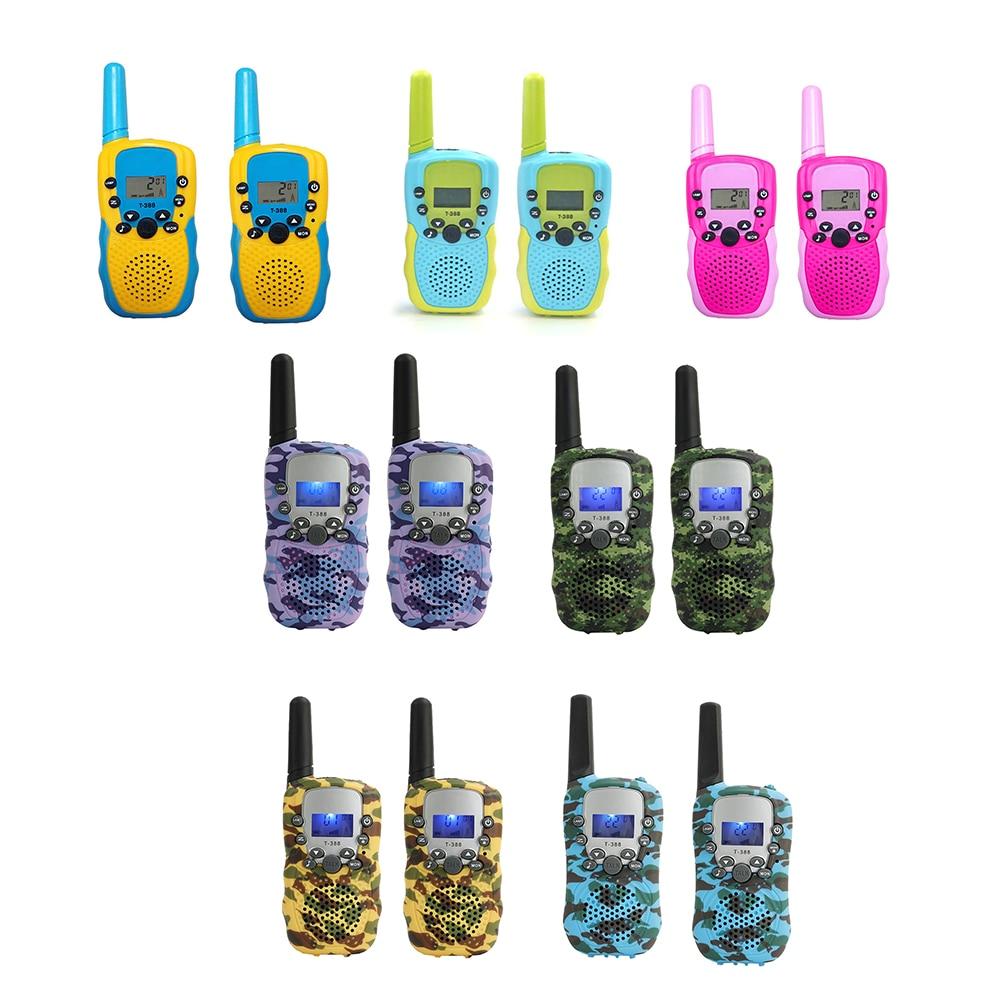 2pcs Walkie Talkie Children 2 Way Radio Toys with Backlit LCD Display Walkie-Talkie Kids Birthday Gifts Electronic Toy