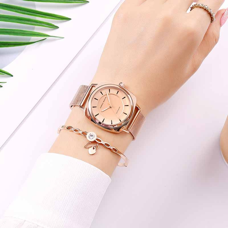 Hannah Martin Wrist Watches For Women Top Luxury Brand Steel Strap Women Watches Fashion Ladies Watch Quartz Clock Reloj Mujer enlarge