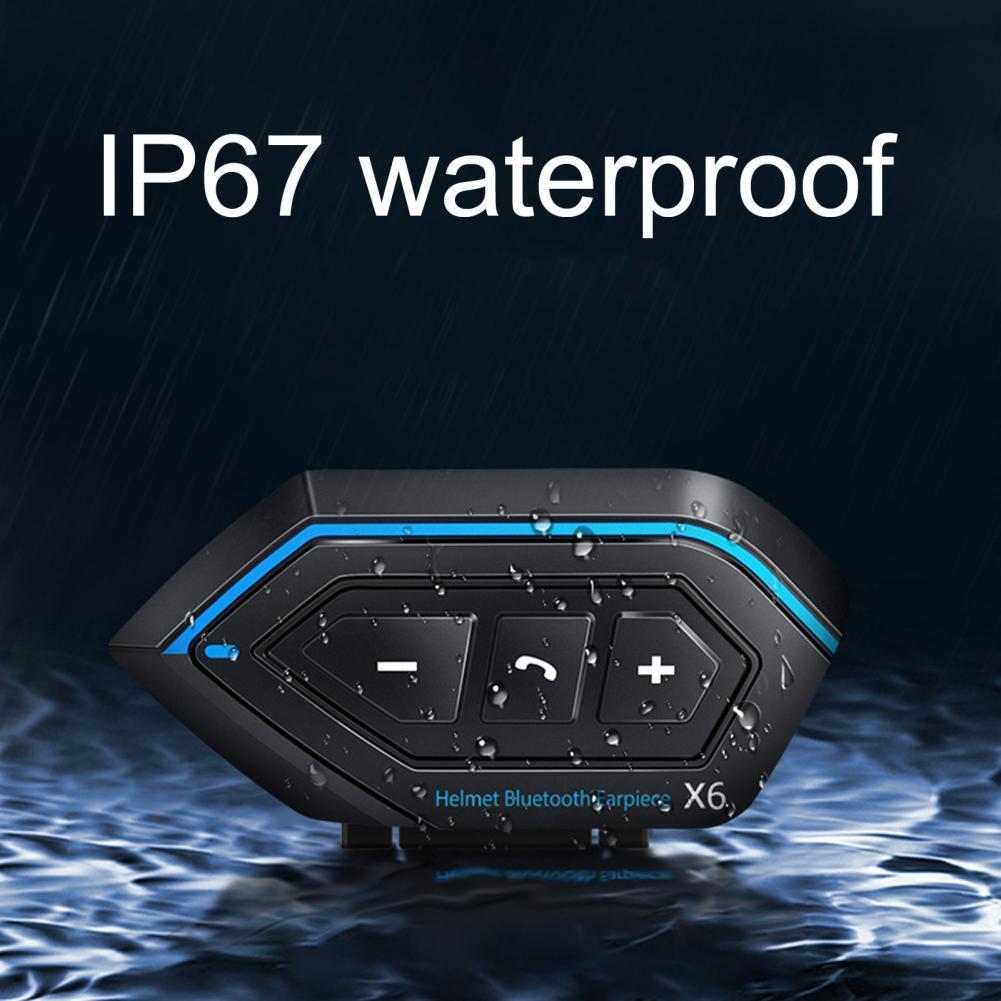 80% Hot Sales!!! X6 Bluetooth 5.0 Noise Reduction Rechargeable Motor Bike Interphone Headphone