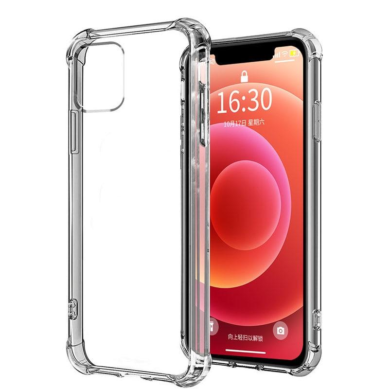 Противоударный чехол для телефона iPhone 12 11 Pro Max Xs X, прозрачный силиконовый чехол для iPhone 7 8 Plus SE 2021 XR 12, Чехлы, задняя крышка