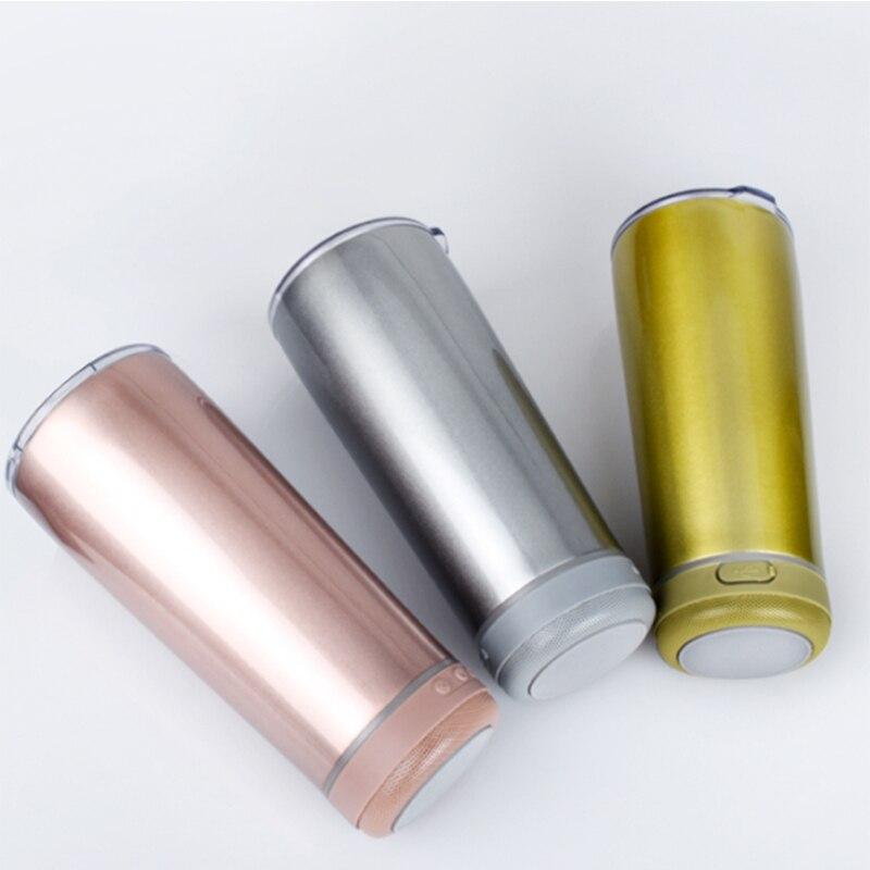 جديد وصول الموسيقى زجاجة ماء المتكلم بهلوان الفولاذ المقاوم للصدأ جودة عالية الصوت كبير قدح ذكي هدية للرجل دروبشيبينغ