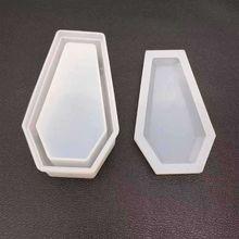 DIY Crystal Epoxy Mold Storage Box Molds Dark Vampire Coffin High Mirror Crafts Making Mould B36D