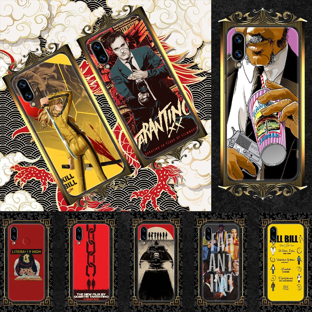 written-directed-quentin-tarantino-phone-case-for-huawei-honor-6-7-8-9-10-10i-20-a-c-x-lite-pro-play-black-painting-cover-tpu