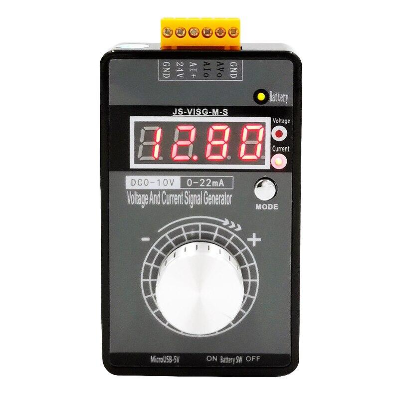Портативный 0-5 в 0-10 В 4-20мА генератор с светодиодный дисплей высокой точности регулируемый постоянного тока Напряжение генератор сигнала без батареи