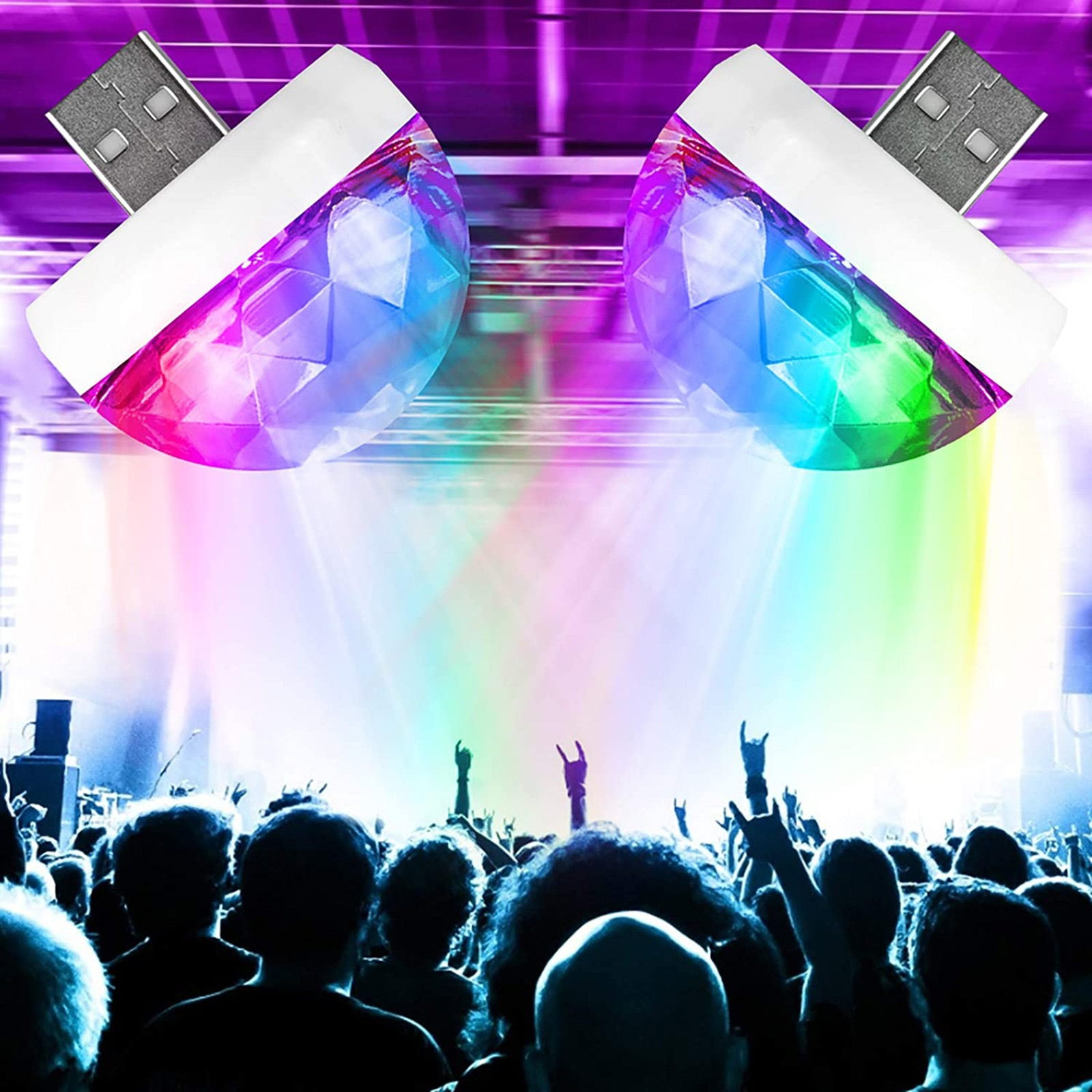 Мини USB Дискотека Свет Звук Активированный Светодиод магия Дискотека Шар Лампы Автомобиль Атмосфера Строб Сцена Свет для Дома Комнаты Вечеринки Дня рождения