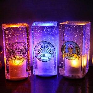 Modern Creative Crystal Bubbles Bar Table Light Lamp Rechargeable RGB LED Night Light KTV Cafe Restaurant Hotel Decor Desk Light