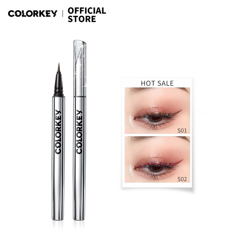 Colorkey 10 Colors Liquid Eyeliner Pencil Fine Flashing Waterproof Smudge-proof Long-lasting Quick D