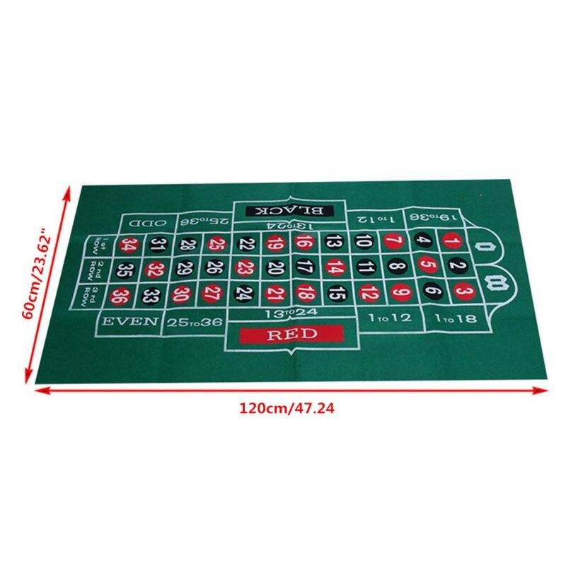 Двухсторонняя скатерть для игры русская рулетка и блэкджек игровой стол коврик K1KD-1