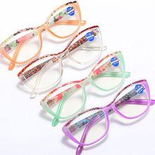 Cat Eye Anti Blue Light Reading Glasses Women Anti Glare Presbyopic Computer Eyeglasses Frame Sungla