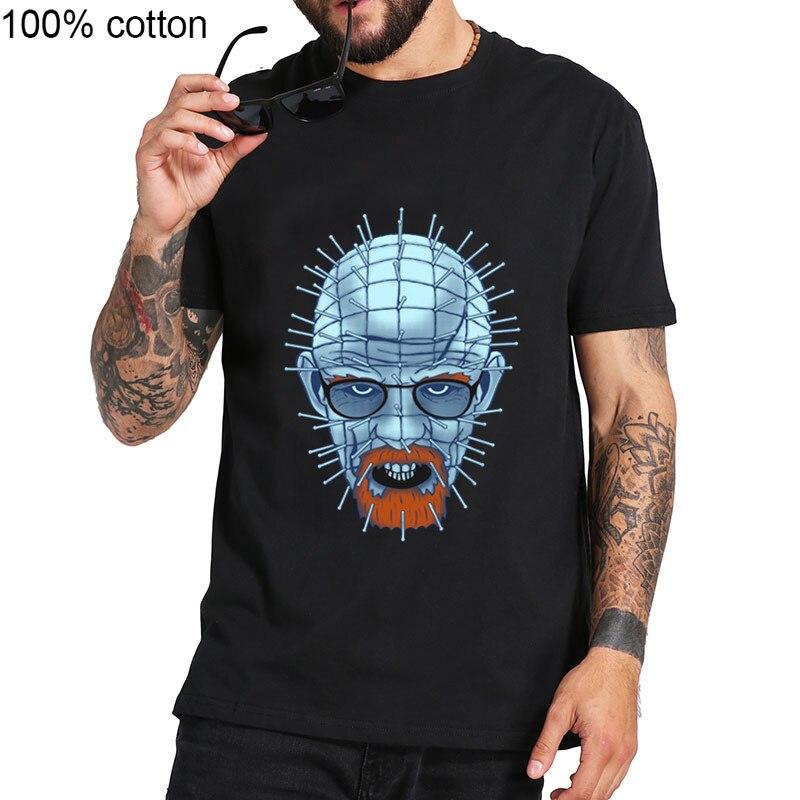 Lo extraño streetwear heisenberg T camisa de los hombres Hellsenberg uñas Camiseta hombre caminando camiseta con diseño de muerte Tops rompiendo mal Camiseta hombre