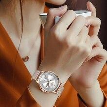 LIGE 2021 New Gold Watch Women Watches Ladies Creative Steel Women's Bracelet Watches Female Waterpr