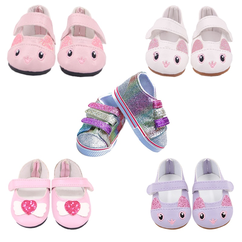 Doll Clothes Shoes 15 Styles 7 Cm Kitty Canvas Shoes For 18 Inch American&43Cm Baby New Born Doll Generation Girl Toy  1/3 Blyth недорого