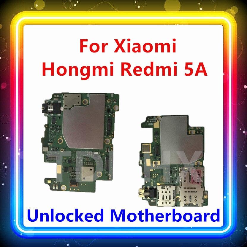 Placa base desbloqueada para Redmi 5A 16GB 32GB Android OS con chip sustituido para Xiaomi Hongmi 5A placa base lógica