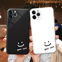 YIKS Couple phone case silicone smiley cover cute capa for iPhone 13 12 11 Pro XS Max XR 8 7 6 6S Pl
