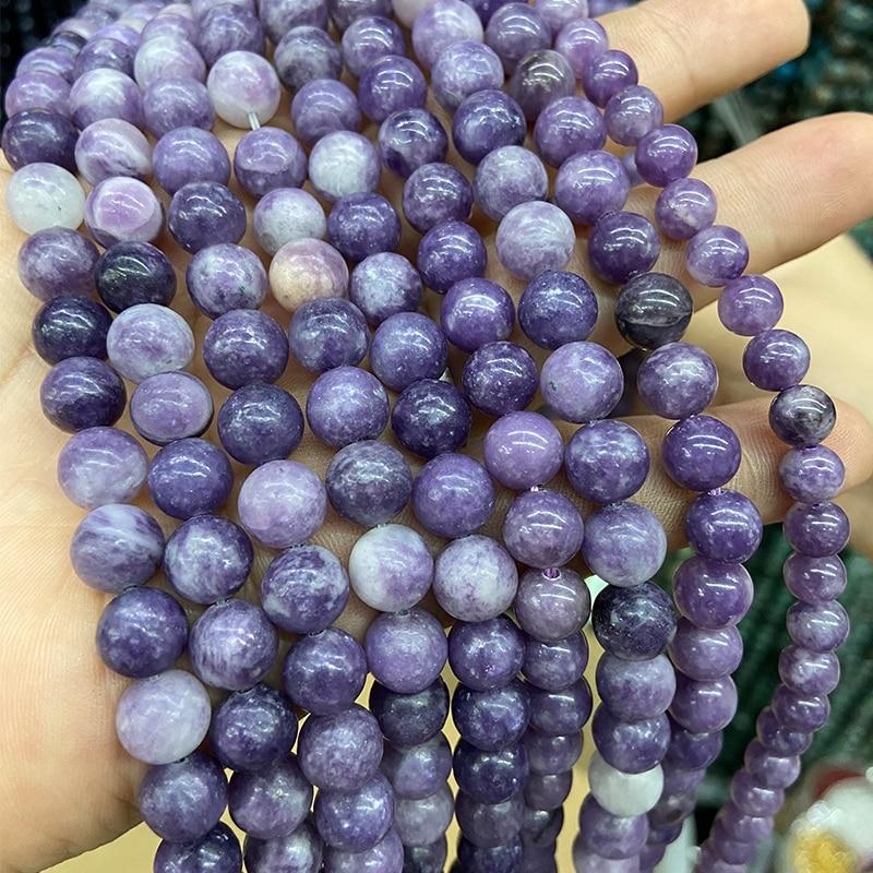 Branelli allentati rotondi naturali delle agate viola lisce 8mm 15 pollici all'ingrosso per il braccialetto dei gioielli di DIY