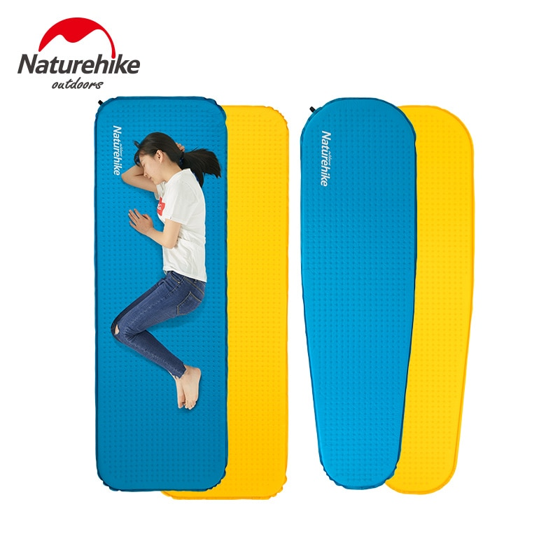 Naturehike-inflar dormir Mat portátil Camping sola persona esponja inflable colchón de 0,62 kg al aire libre de viaje de senderismo