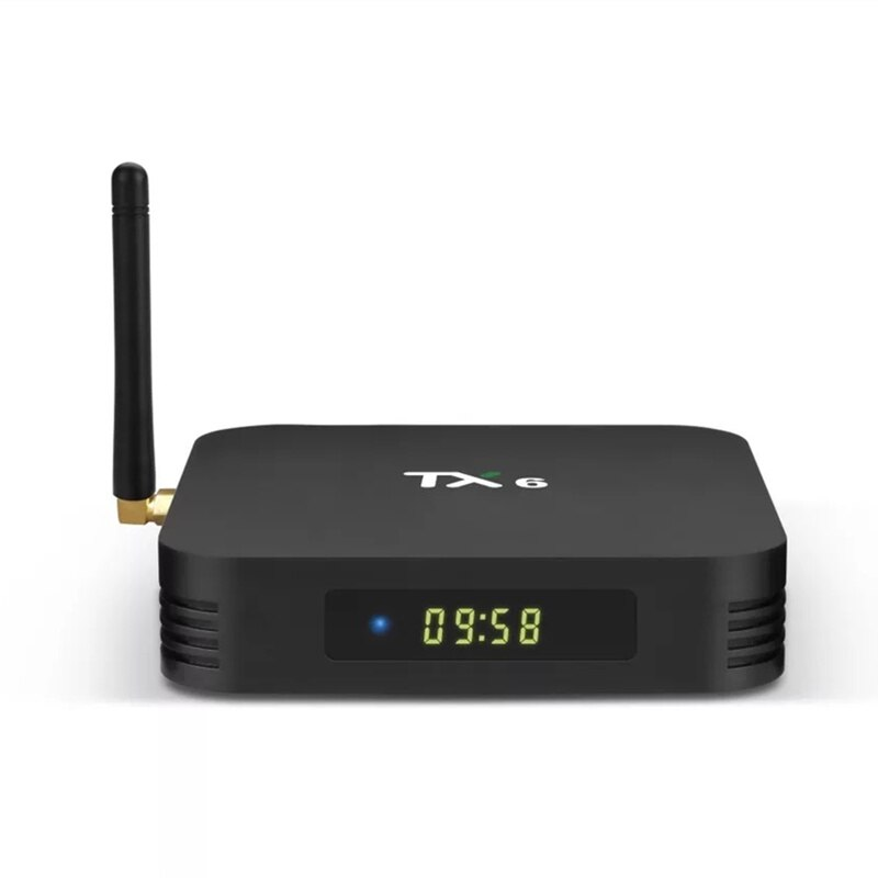 TX6 control remoto caja de televisión Global 6K HDR Android 7,1 caja de smart ultra HD 4G/32G Bluetooth WIFI IPTV de Google decodificador 4 reproductor de medios