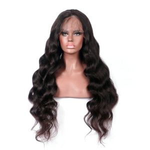 Natural  Middle Part 22-26 Inch Long Body Wave 1B Synthetic Lace Front Wig For Black Women PrePlucked BabyHair Daily Dark Wine