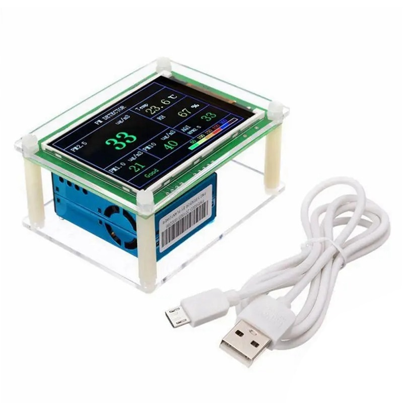 PM1.0 PM2.5 PM10 Detector Module Air Quality Dust Sensor Tester Detector Support Export Data Monitor