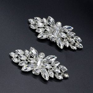 2pcs Shoe Clip Wedding Shoes High Heel Women Bride Decoration Rhinestone Shiny Decorative Clips Charm Buckle 50PE