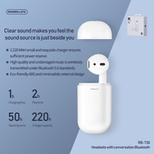 Auricular Bluetooth Remax bluethooth 5,0, auriculares inalámbricos HD estéreo individuales con cancelación de ruido, auriculares para juegos para teléfonos inteligentes