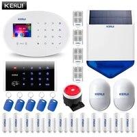 KERUI     Systeme dalarme domestique W20  Wi-Fi  GSM  panneau tactile 2 4   avec application  RFID  capteur PIR  sirene  commutable  6 langues  anti-cambriolage