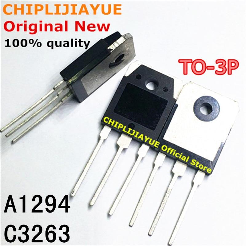 2PCS 1 Par 2SA1294 2SC3263 TO3P A1294 C3263 TO-3P Novo e Original Chipset IC