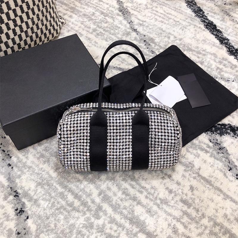2021 جديد السيدات قماش الماس حقيبة يد لامعة حقيبة كتف روك موضة حقيبة ساعي حقيبة يد