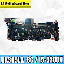 UX305LA avec i5-5200 CPU 8GB RAM carte mère pour Asus Zenbook UX305 UX305L U305L U305LA Ultrabook ordinateur portable carte mère Test 100% ok