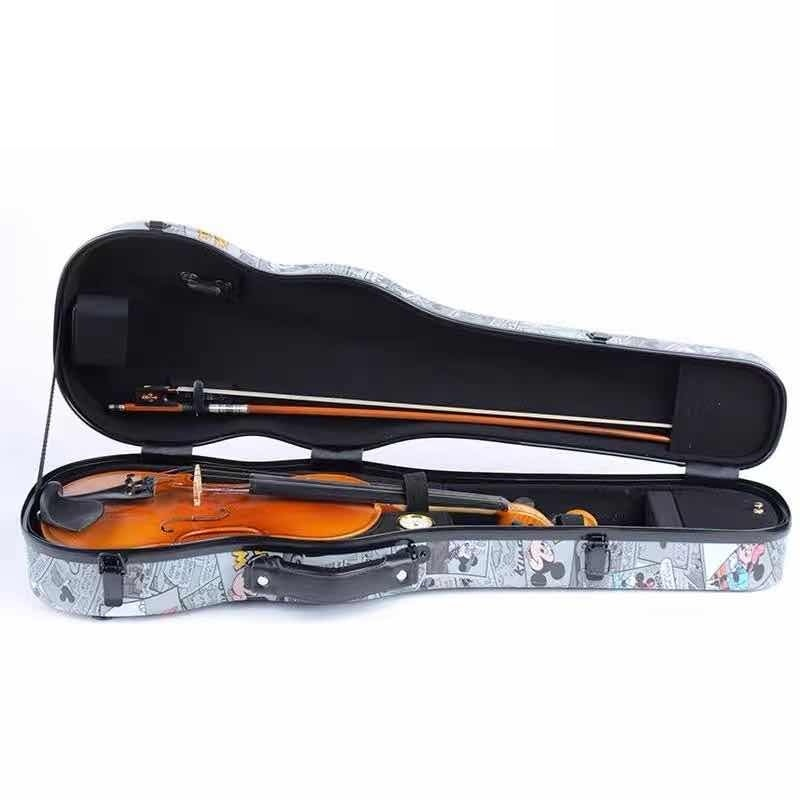 High Quality 4/4 Violin Case Carbon Fiber Triangle Box Light Strong Hard Box Waterproof Wear-resistant enlarge