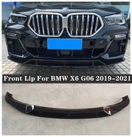 new high quality abs black bumper front lip diffuser cover protector fits for bmw x6 g06 2019 2020 2021