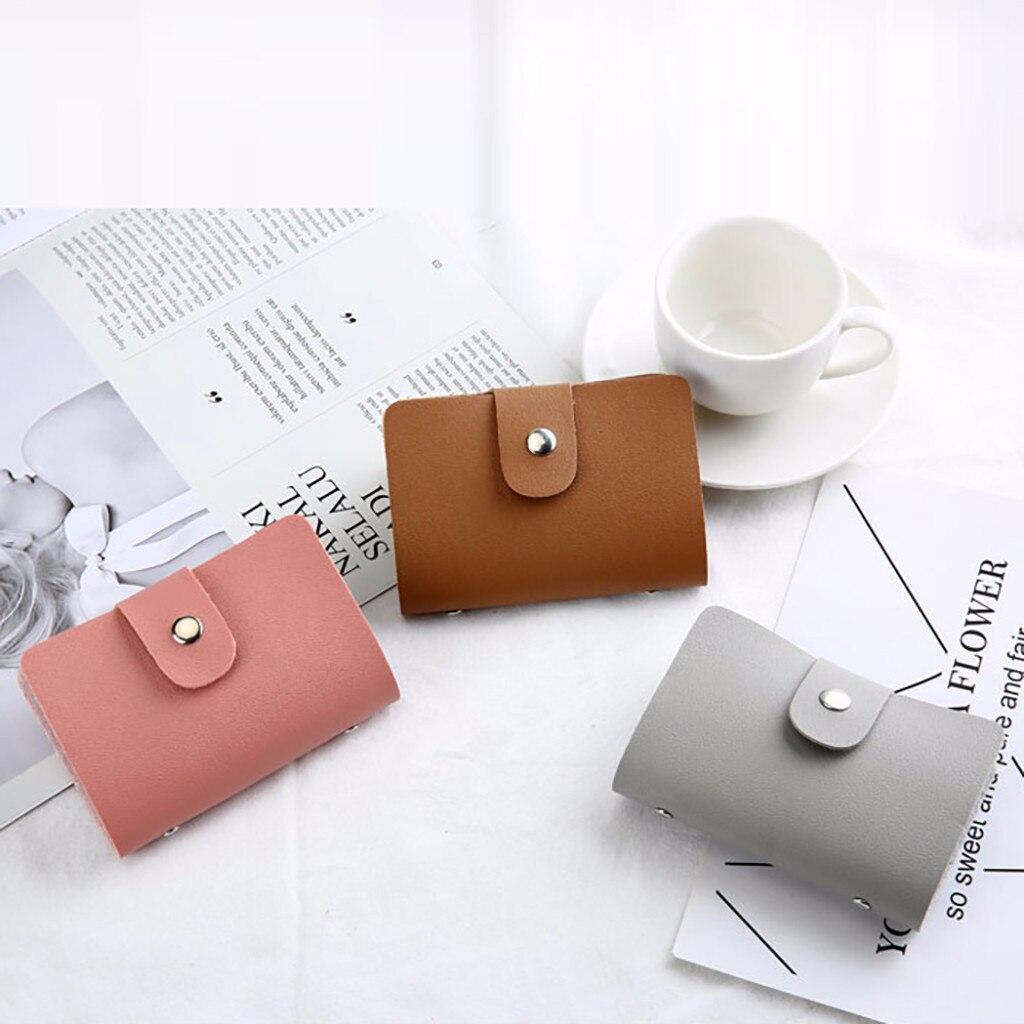 Men Women Leather Credit Card Holder Case Card Wallet Business Card  12 Bit Unisex Organizer Wallet  ID Bag